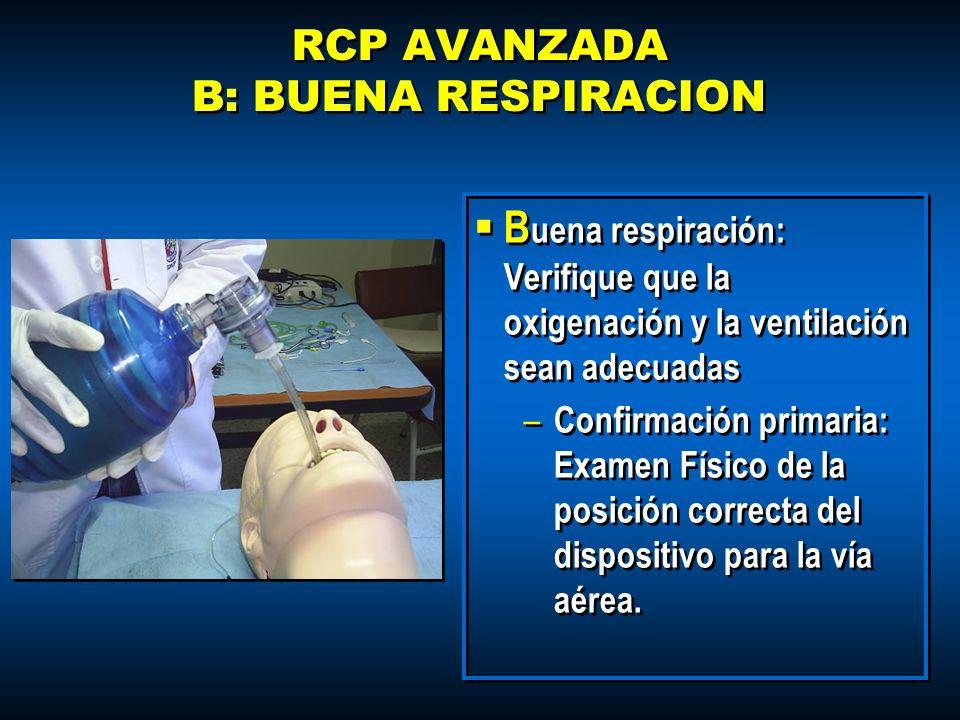 RCP AVANZADA B: BUENA RESPIRACION