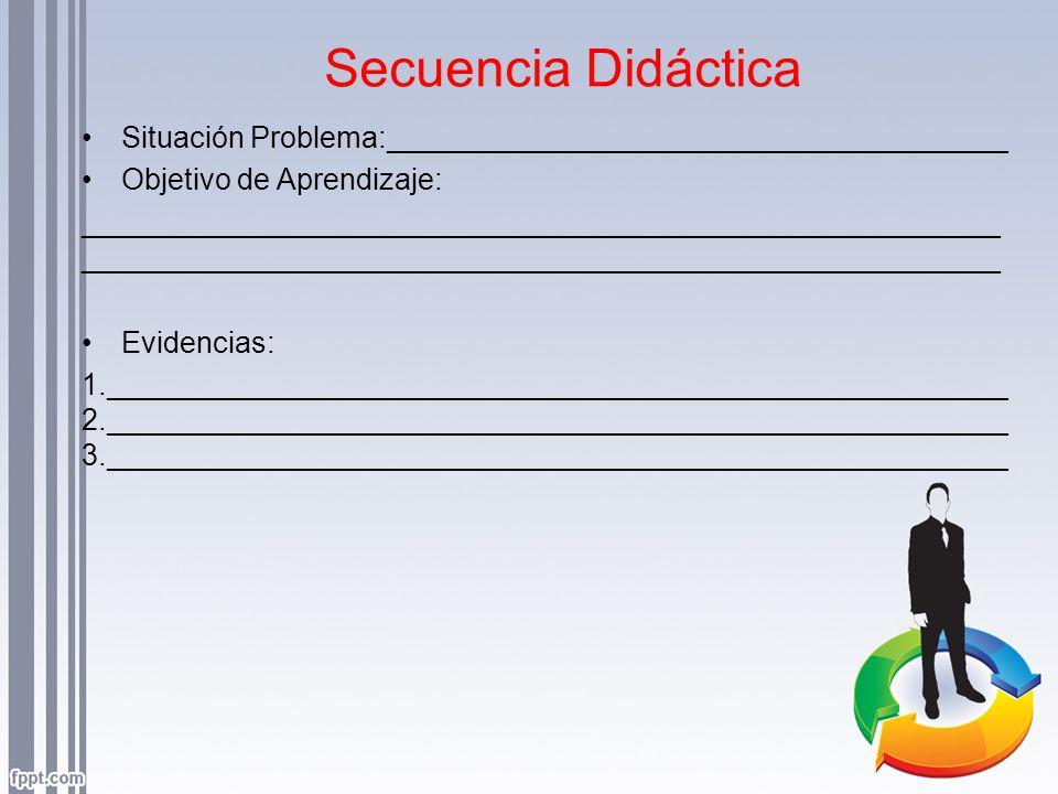 Secuencia Didáctica Situación Problema:______________________________________. Objetivo de Aprendizaje: