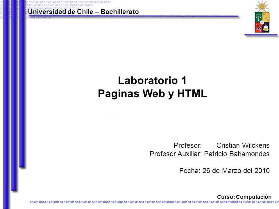 Laboratorio 1 Paginas Web y HTML