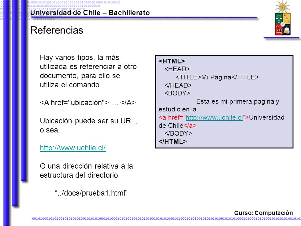 Universidad de Chile – Bachillerato
