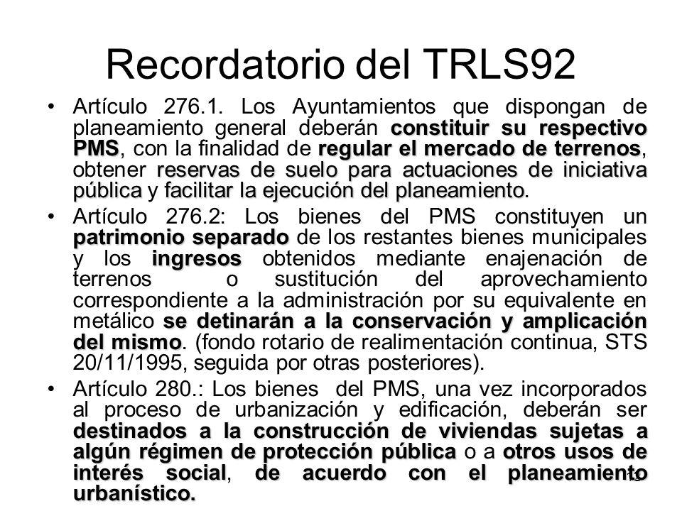 Recordatorio del TRLS92