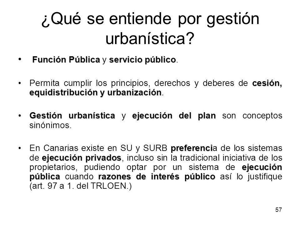 ¿Qué se entiende por gestión urbanística