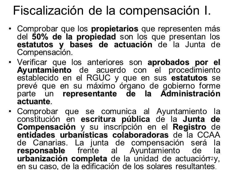 Fiscalización de la compensación I.