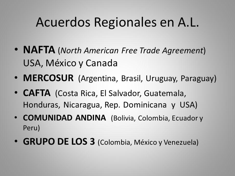 Acuerdos Regionales en A.L.