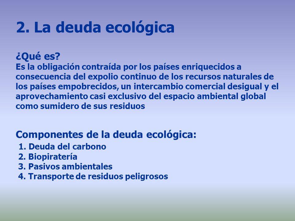 2. La deuda ecológica