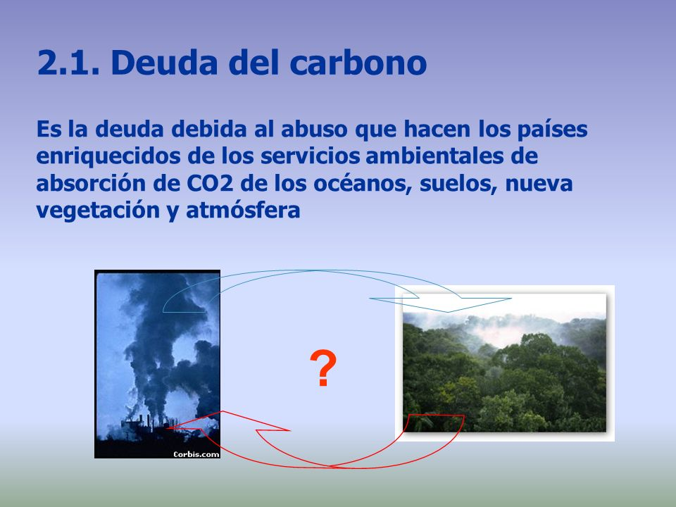 2.1. Deuda del carbono
