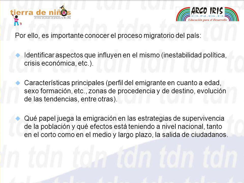 Por ello, es importante conocer el proceso migratorio del país: