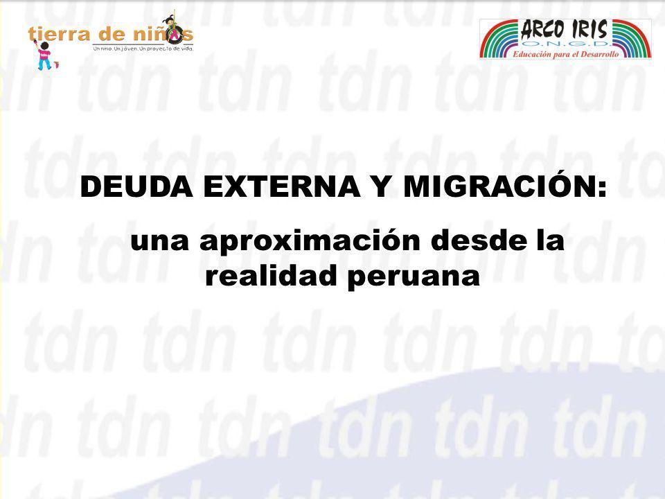 DEUDA EXTERNA Y MIGRACIÓN: una aproximación desde la realidad peruana
