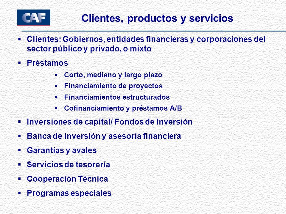 Clientes, productos y servicios