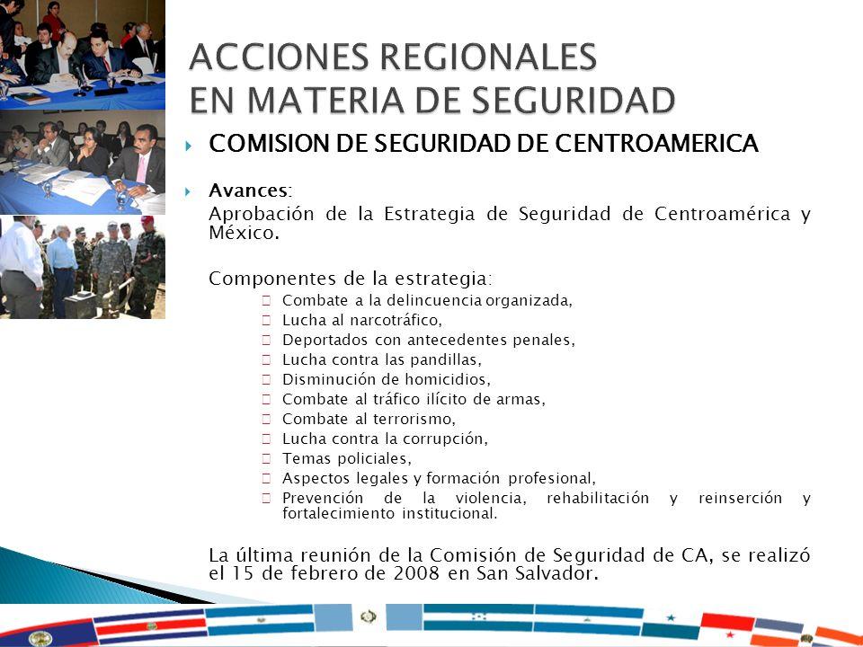 ACCIONES REGIONALES EN MATERIA DE SEGURIDAD