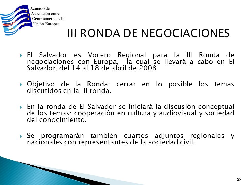 III RONDA DE NEGOCIACIONES