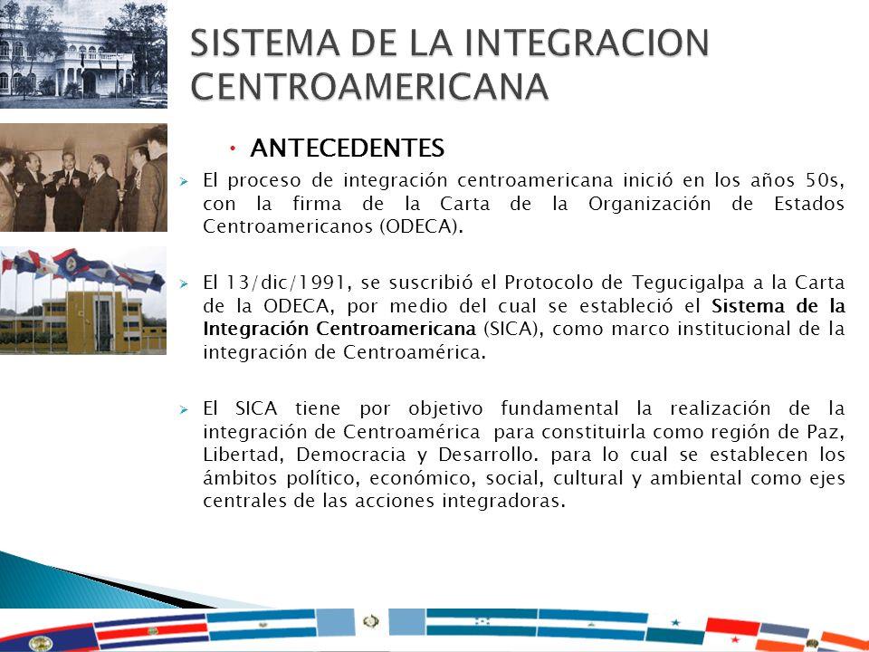 SISTEMA DE LA INTEGRACION CENTROAMERICANA