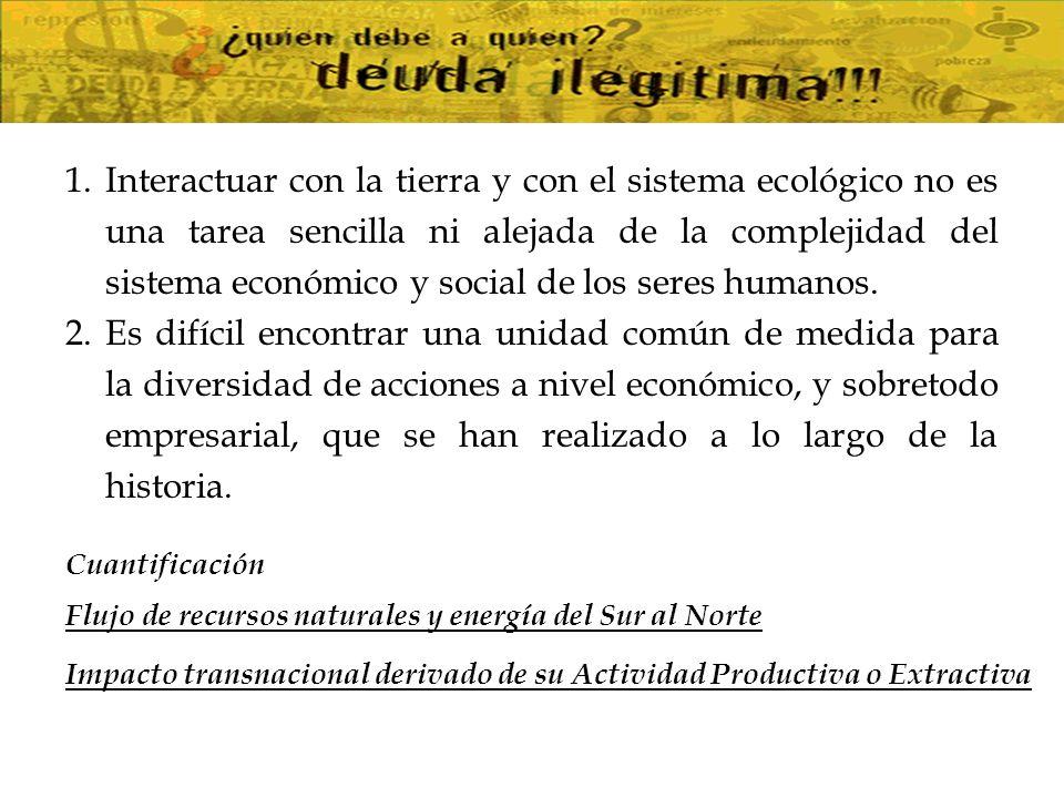 Interactuar con la tierra y con el sistema ecológico no es una tarea sencilla ni alejada de la complejidad del sistema económico y social de los seres humanos.