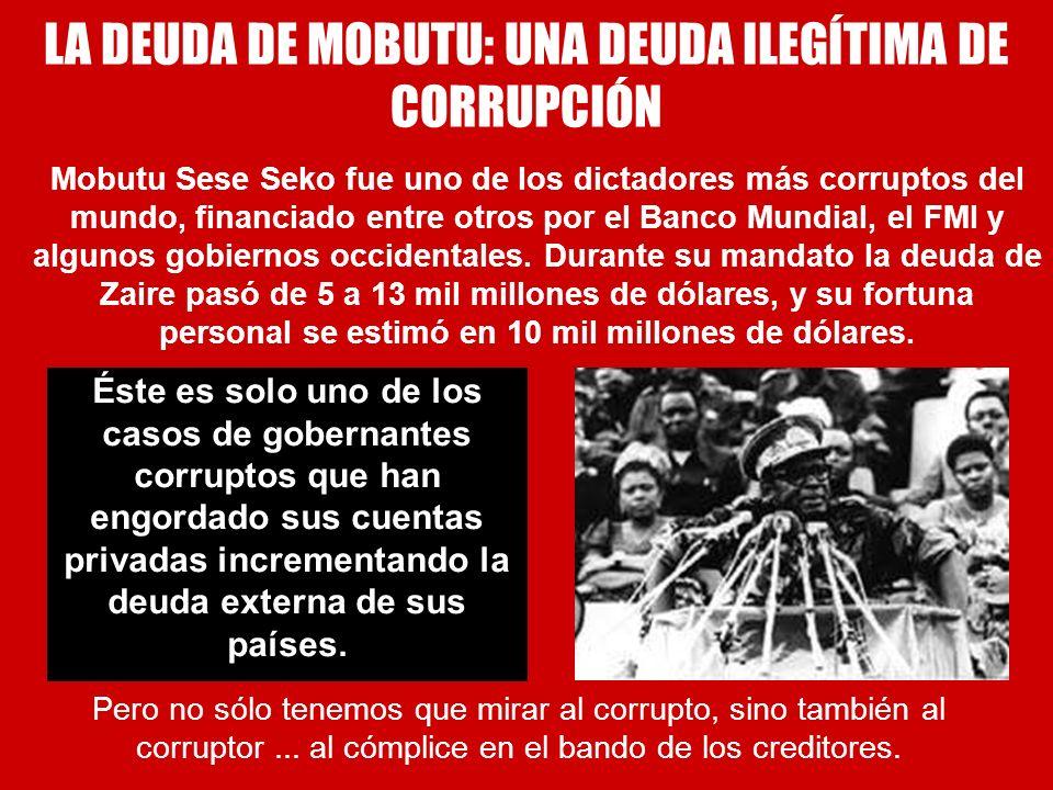 LA DEUDA DE MOBUTU: UNA DEUDA ILEGÍTIMA DE CORRUPCIÓN