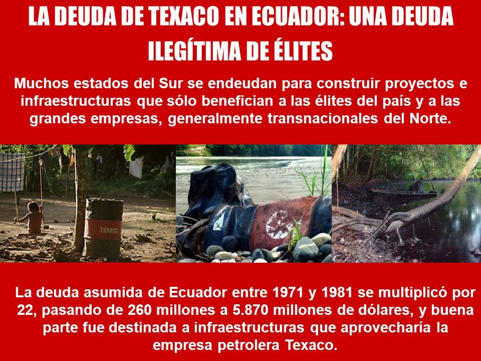 LA DEUDA DE TEXACO EN ECUADOR: UNA DEUDA ILEGÍTIMA DE ÉLITES