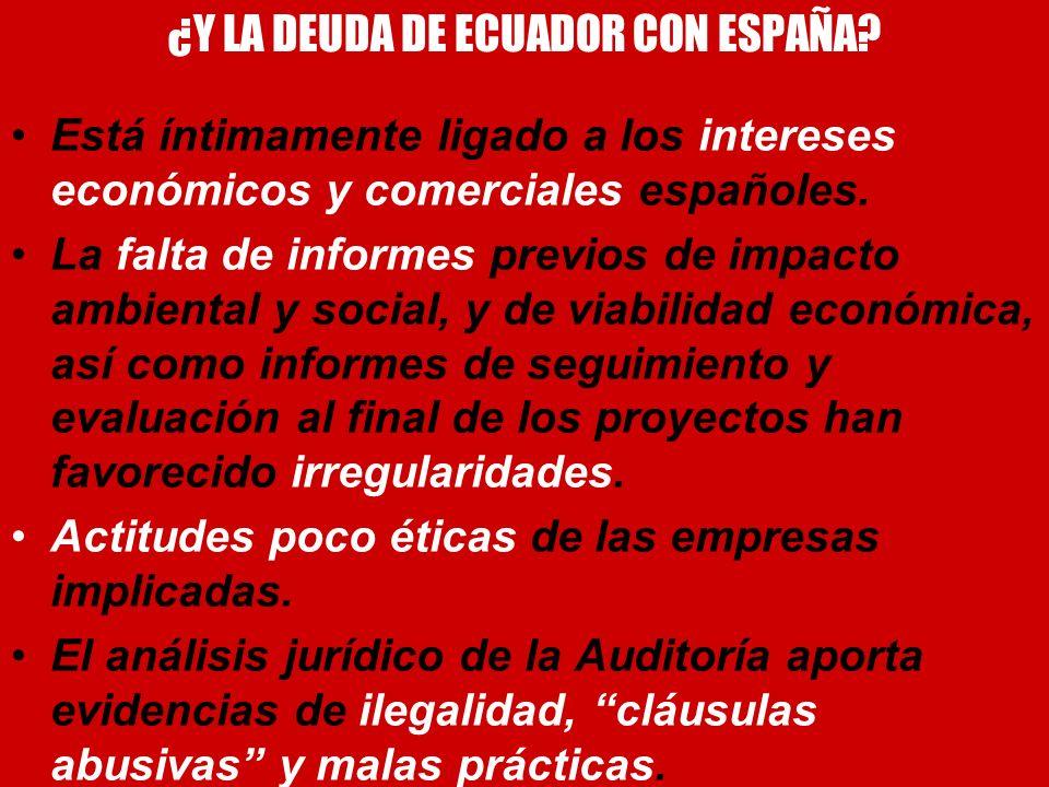 ¿Y LA DEUDA DE ECUADOR CON ESPAÑA