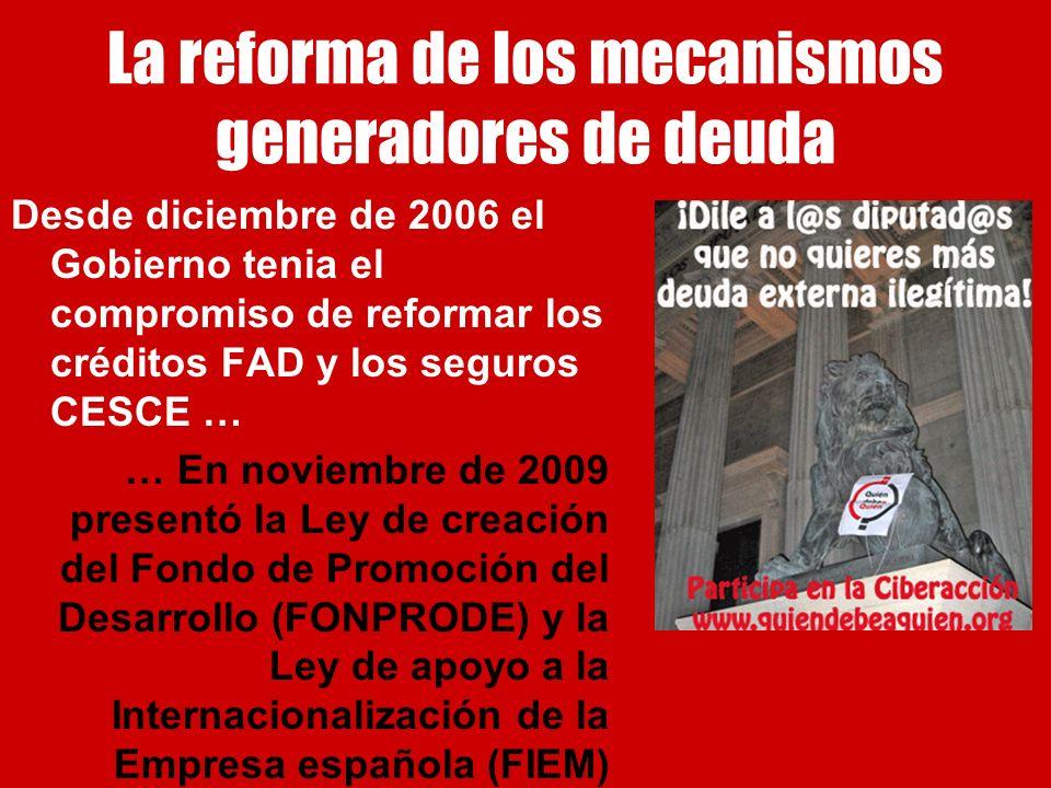 La reforma de los mecanismos generadores de deuda