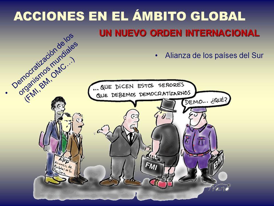 ACCIONES EN EL ÁMBITO GLOBAL