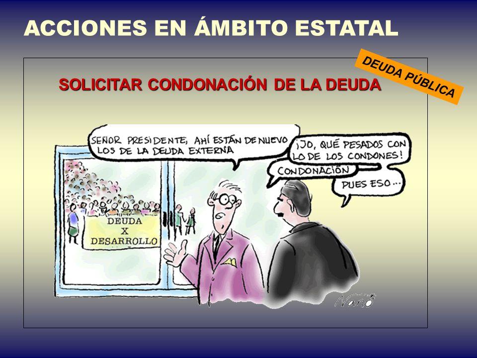 SOLICITAR CONDONACIÓN DE LA DEUDA