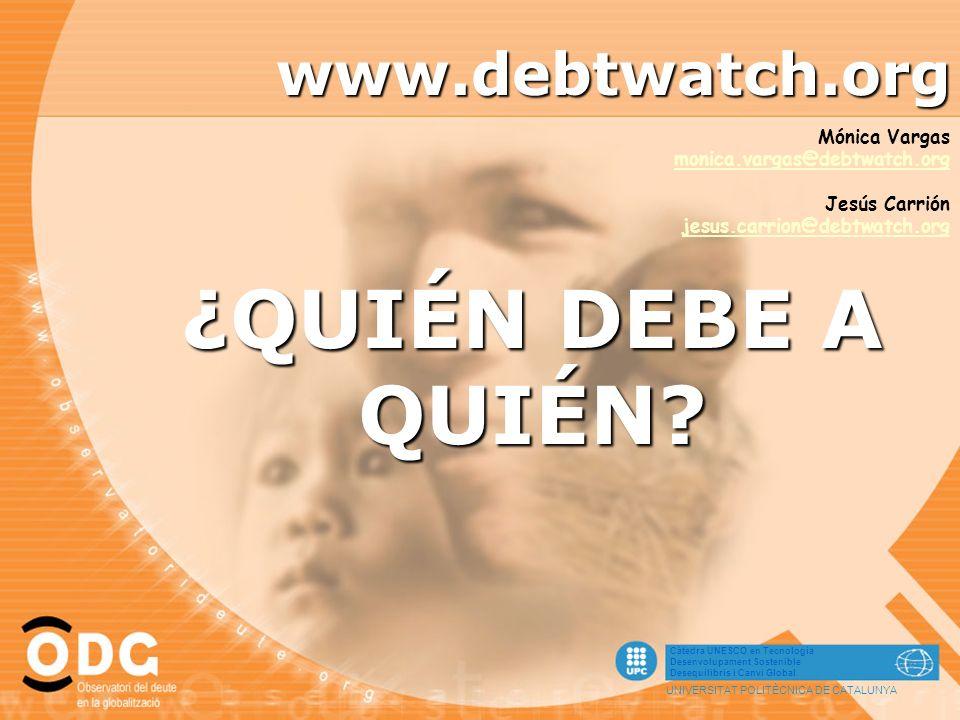 ¿QUIÉN DEBE A QUIÉN www.debtwatch.org Mónica Vargas