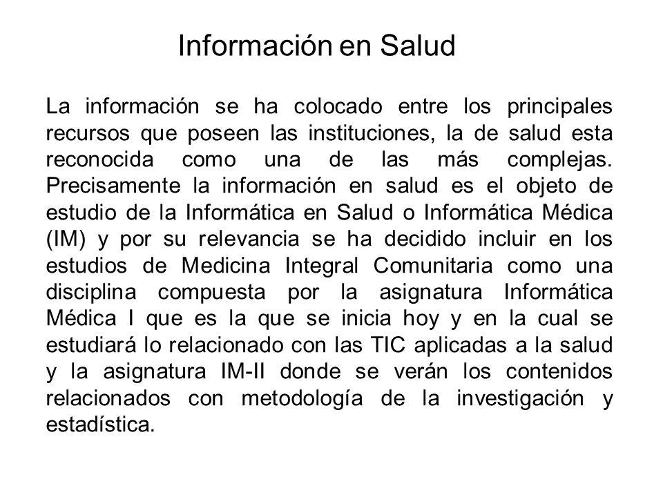 Información en Salud