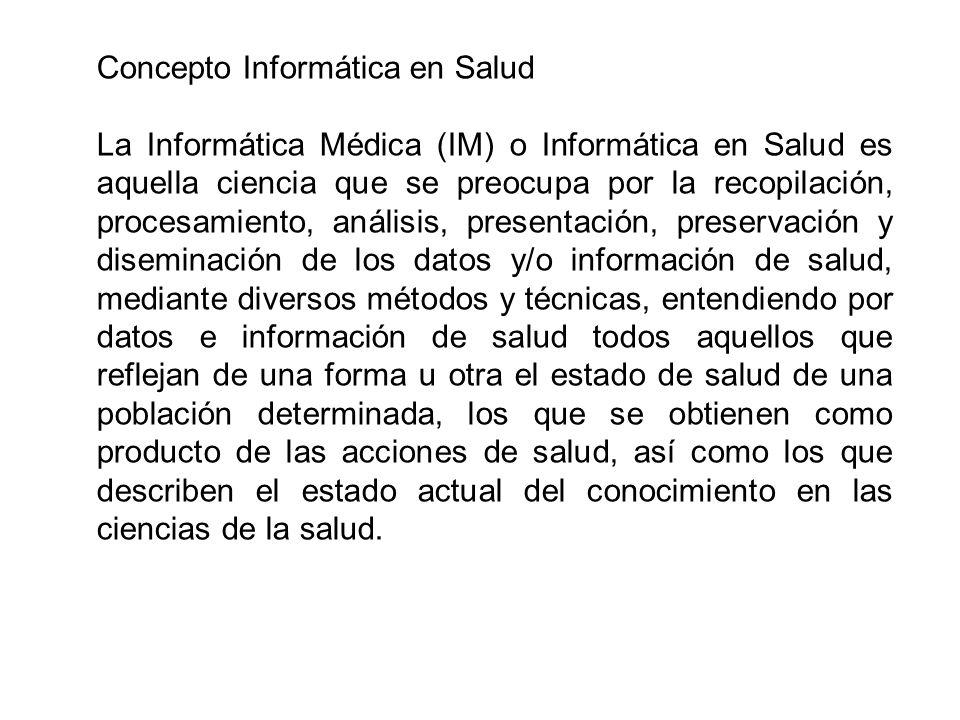Concepto Informática en Salud