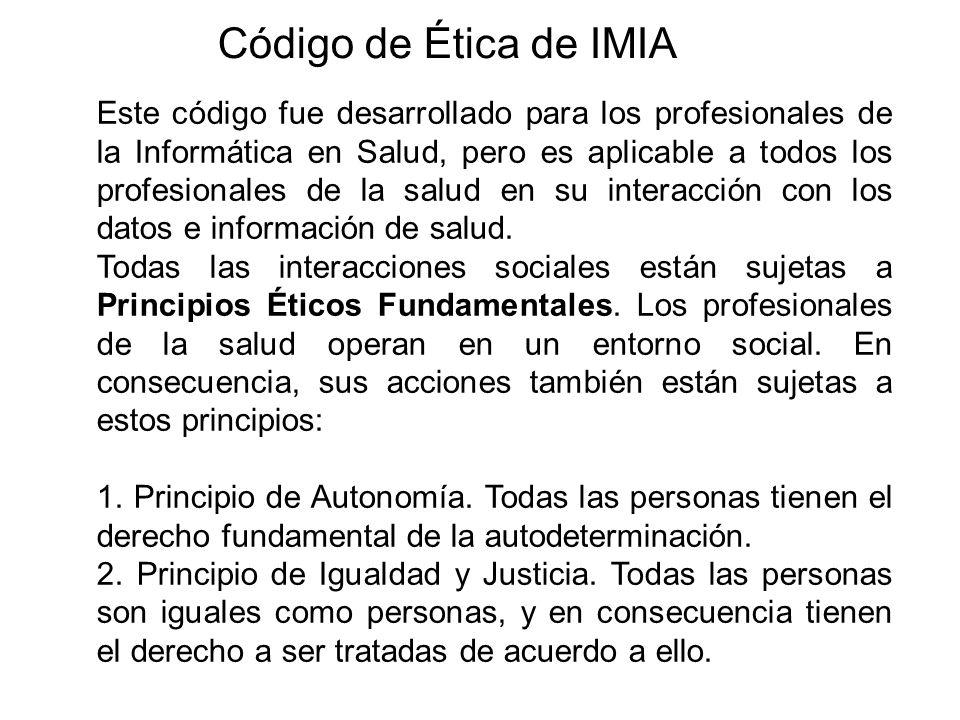 Código de Ética de IMIA