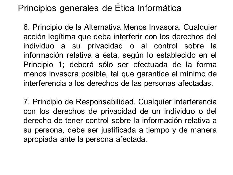 Principios generales de Ética Informática