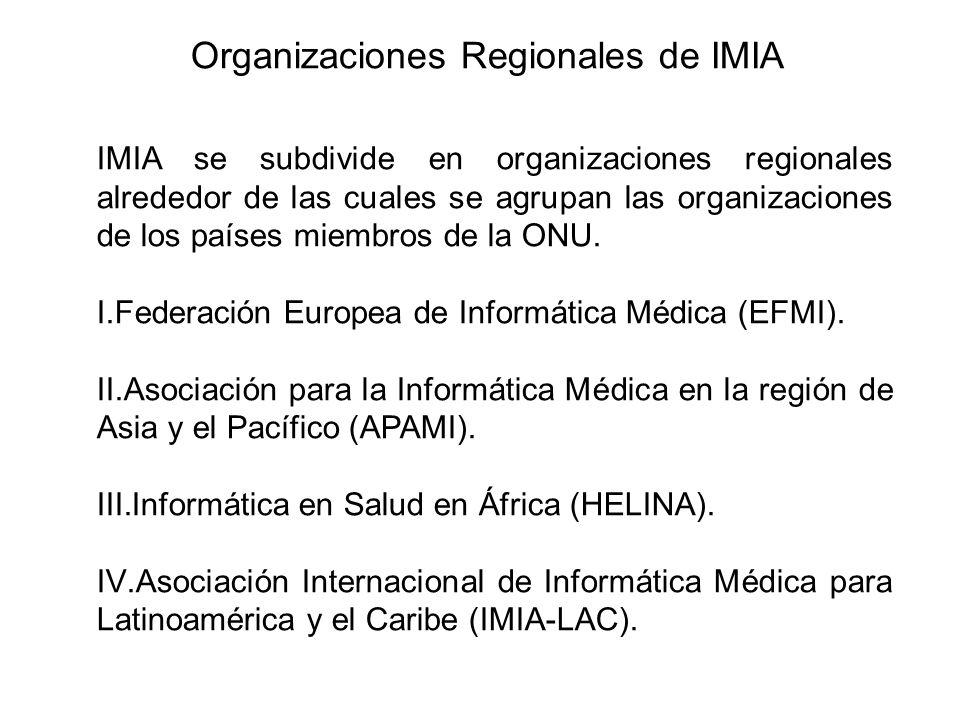 Organizaciones Regionales de IMIA