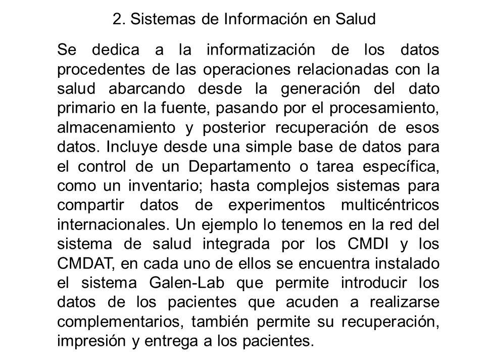 2. Sistemas de Información en Salud