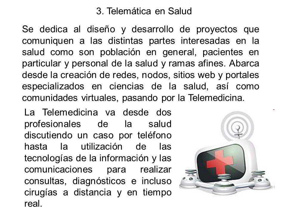 3. Telemática en Salud