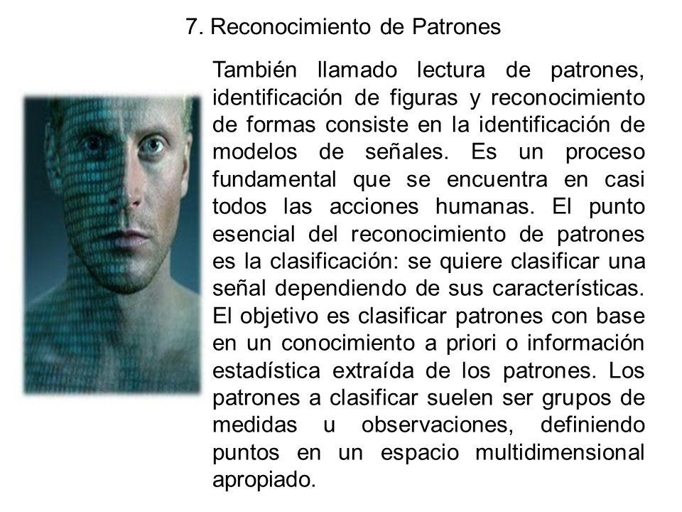 7. Reconocimiento de Patrones