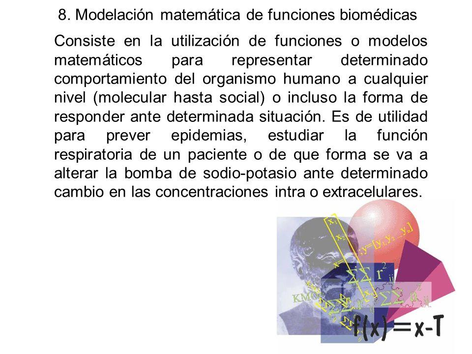 8. Modelación matemática de funciones biomédicas