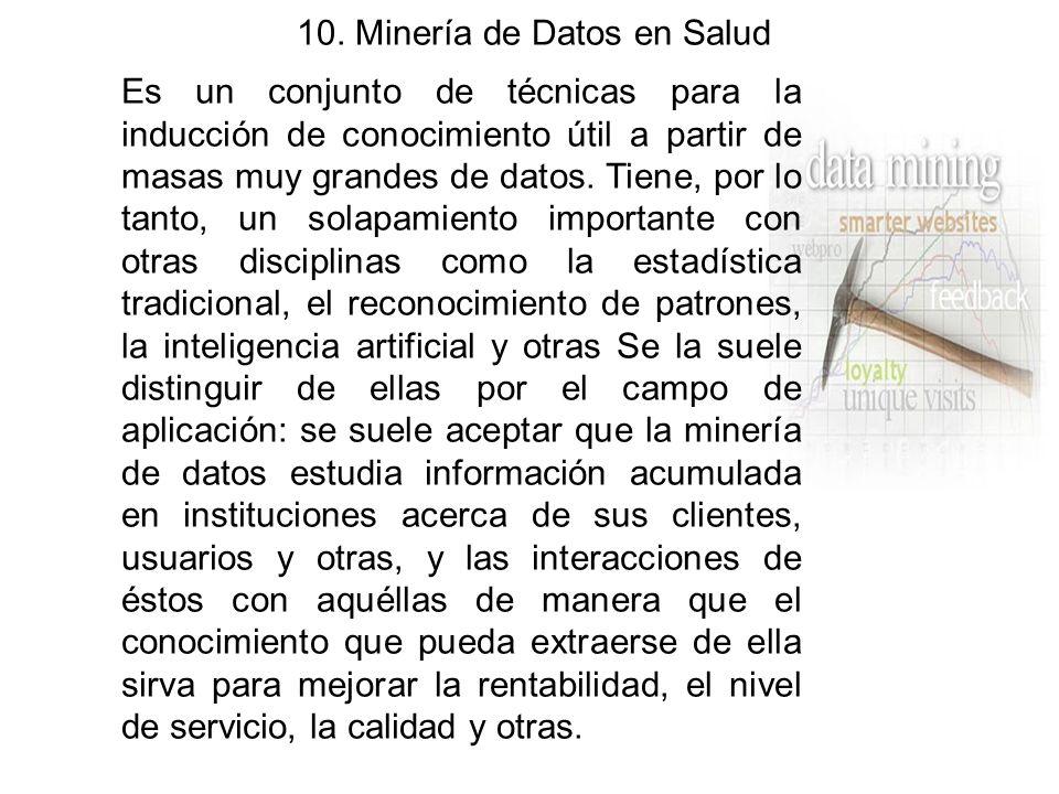 10. Minería de Datos en Salud