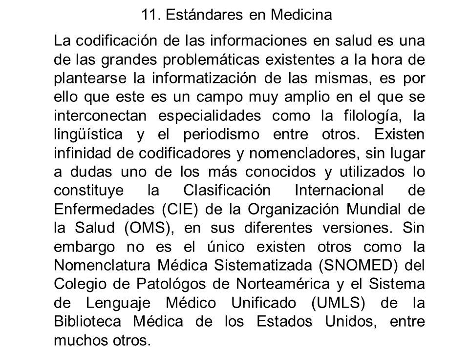 11. Estándares en Medicina