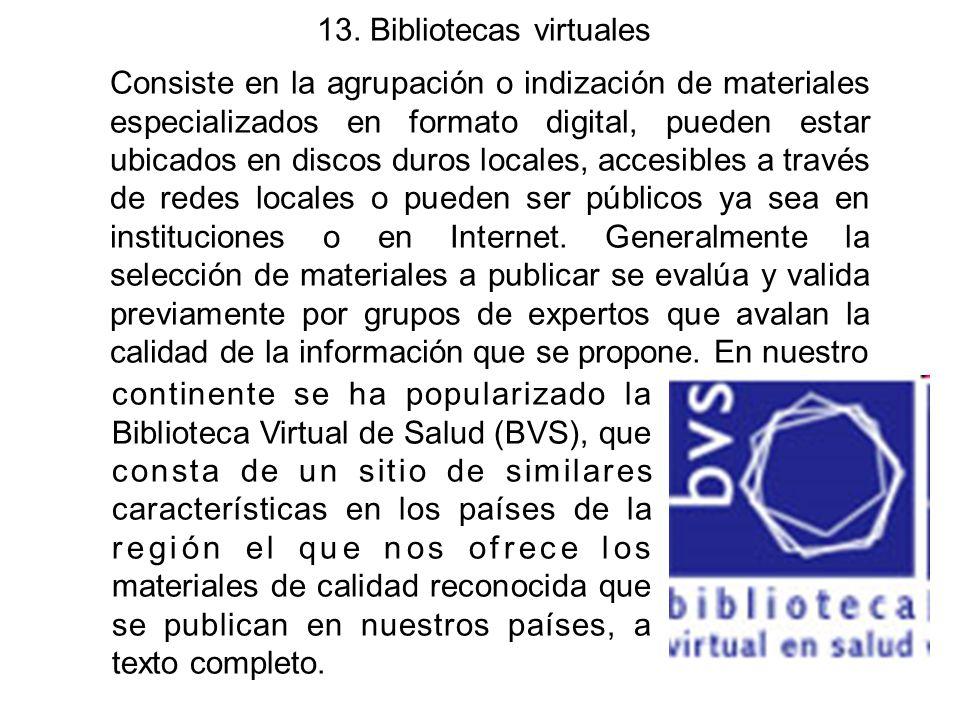 13. Bibliotecas virtuales