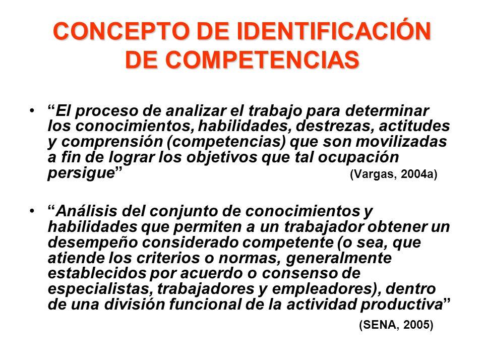 CONCEPTO DE IDENTIFICACIÓN DE COMPETENCIAS
