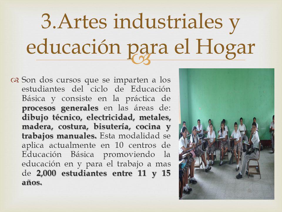3.Artes industriales y educación para el Hogar