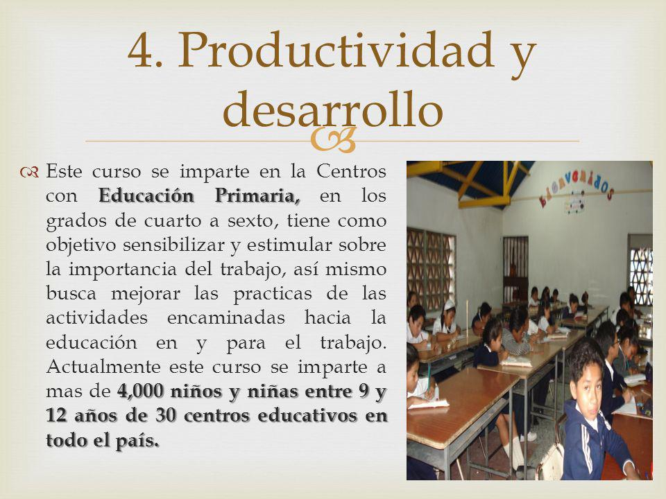 4. Productividad y desarrollo