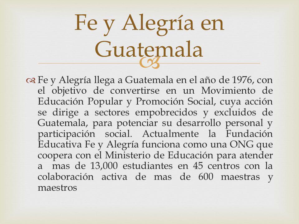 Fe y Alegría en Guatemala