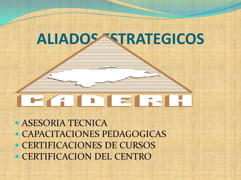 ALIADOS ESTRATEGICOS ASESORIA TECNICA CAPACITACIONES PEDAGOGICAS