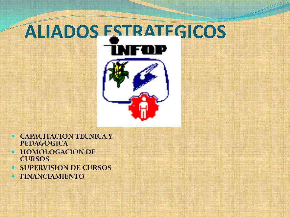 ALIADOS ESTRATEGICOS CAPACITACION TECNICA Y PEDAGOGICA