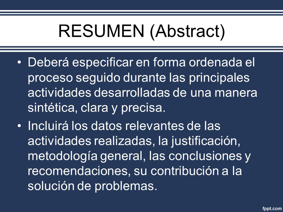 RESUMEN (Abstract)