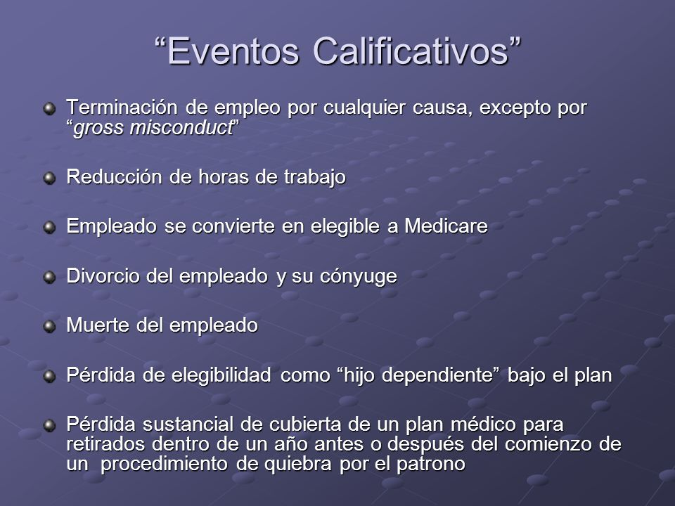 Eventos Calificativos