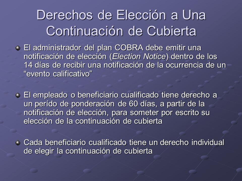 Derechos de Elección a Una Continuación de Cubierta