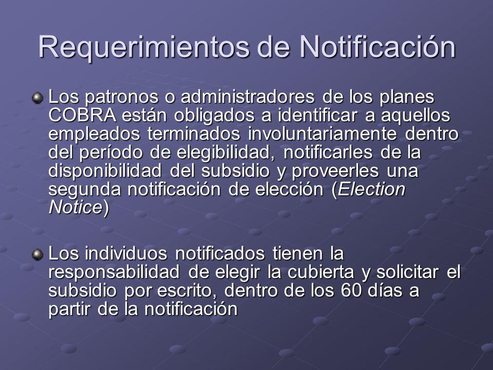 Requerimientos de Notificación