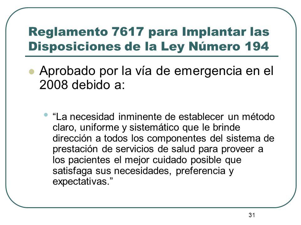 Reglamento 7617 para Implantar las Disposiciones de la Ley Número 194