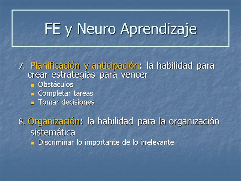 FE y Neuro Aprendizaje sistemática