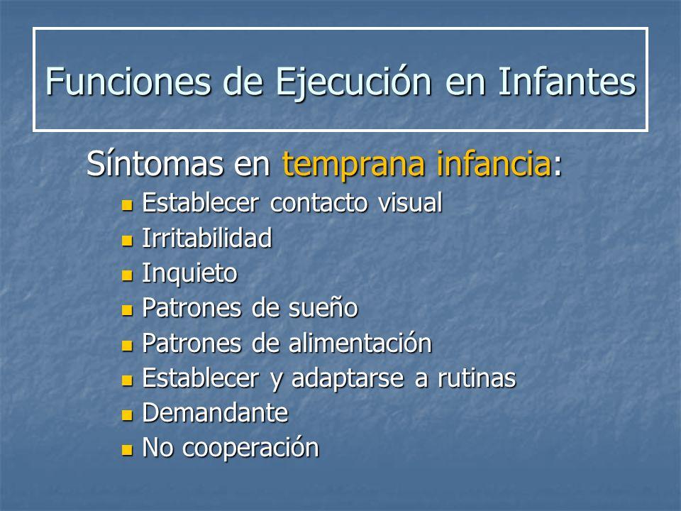 Funciones de Ejecución en Infantes