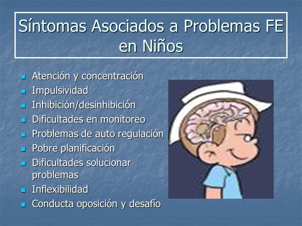 Síntomas Asociados a Problemas FE en Niños